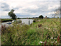 TG3815 : Boats on the River Bure, St Benet's Abbey by Evelyn Simak