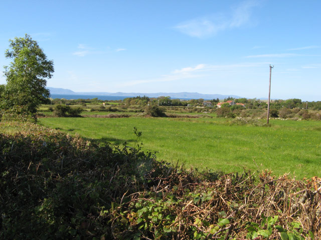 Pasture and sea view
