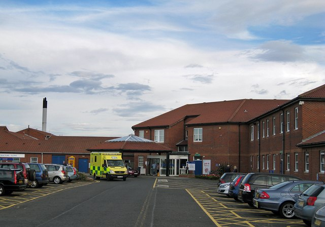 North Tyneside General Hospital - main entrance