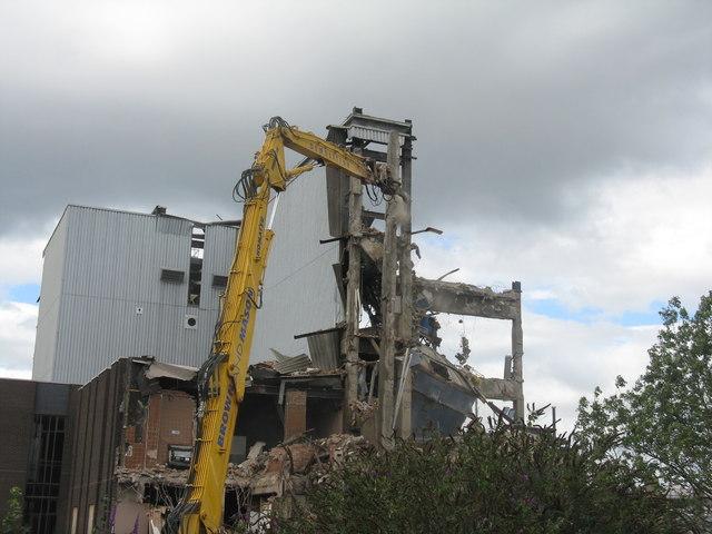 Scottish & Newcastle Bottling Plant demolition - 2