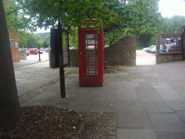Phone box by car park entrance, Godalming by David Howard