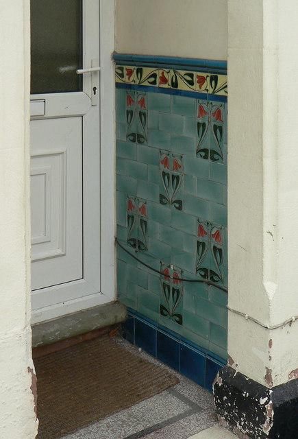 Tiled porch