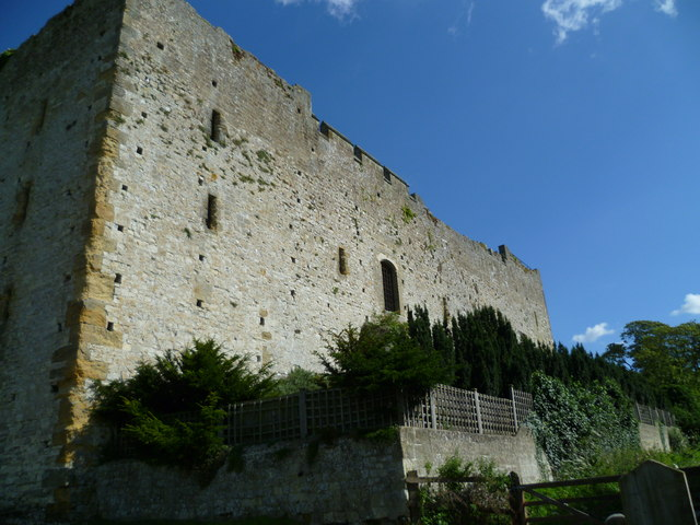 The western wall of Amberley Castle