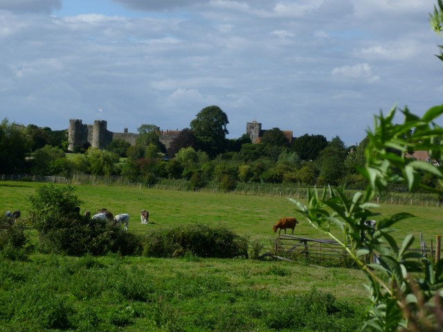 Amberley castle and church