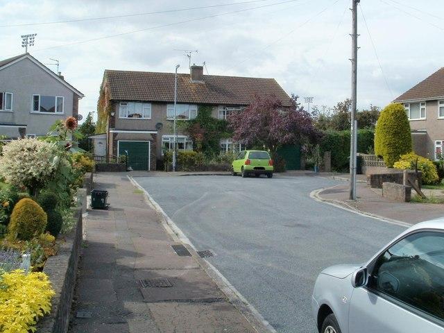 Far end of Traston Close, Newport