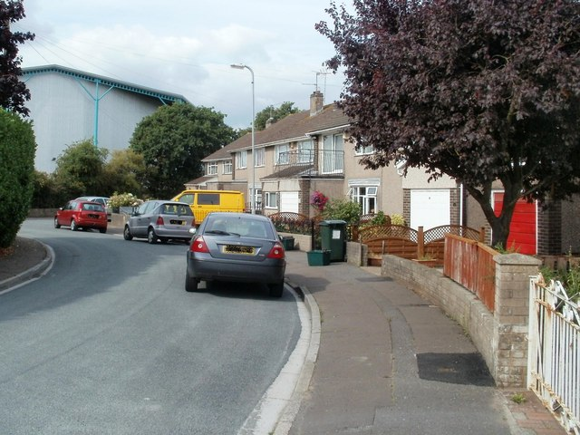 Curved northern arm of Traston Close, Newport