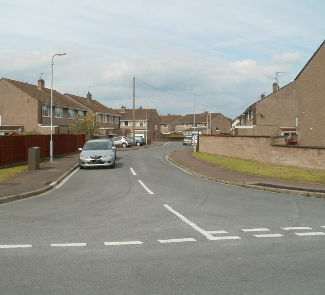 Western end of Traston Avenue, Newport