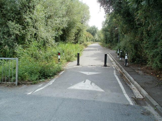 No cars allowed ahead, Traston Road, Newport