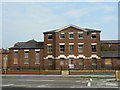 SP7660 : St Edmund's Hospital façade by Alan Murray-Rust