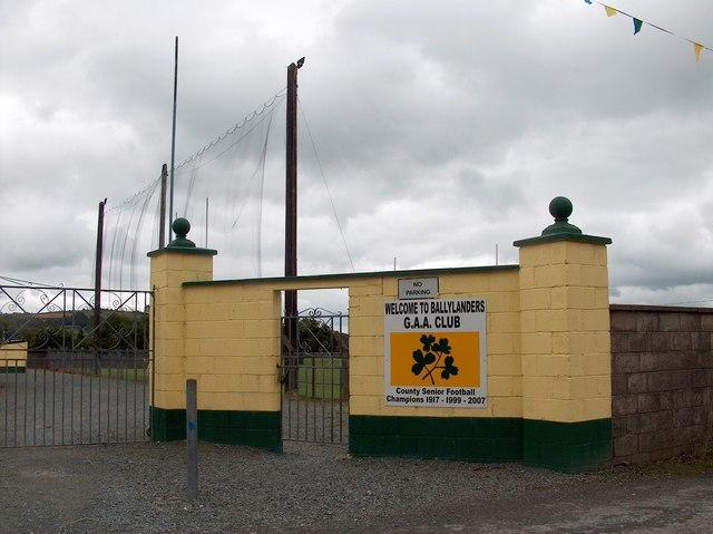 Gateway to Ballylanders Gaelic A.A. playingfield