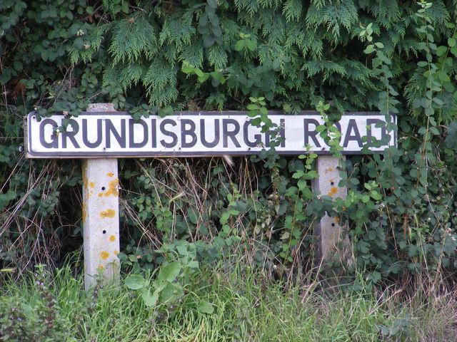 Grundisburgh Road sign