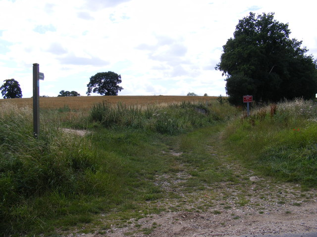 Bridleway to Boot Street near Church Road