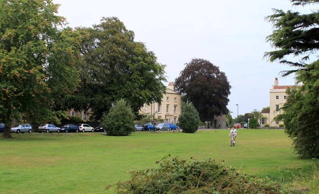 2011 : Cyclist crossing Frenchay Common