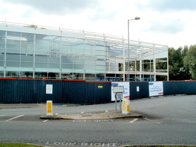 NW end of the new Tesco superstore, Newport Retail Park