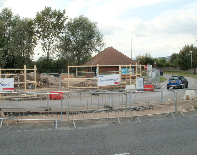 Site for new Tesco petrol station, Newport Retail Park