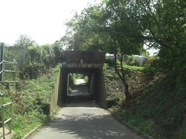 Railway Underpass south of Oakley