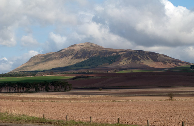 Ploughed fields and West Lomond