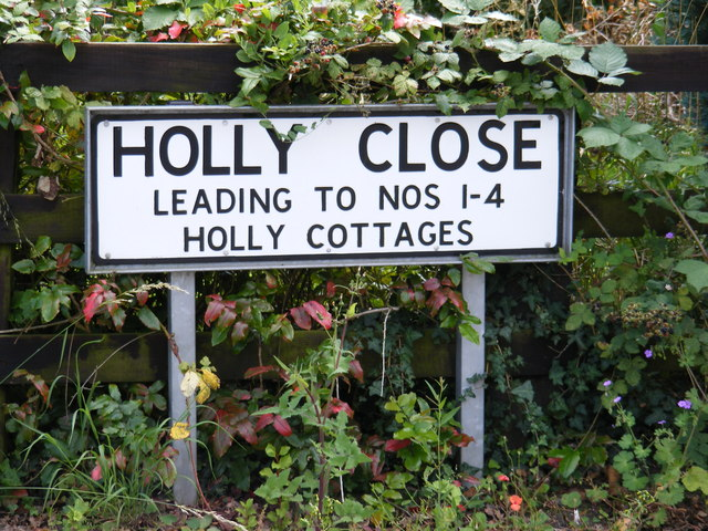 Holly Close sign