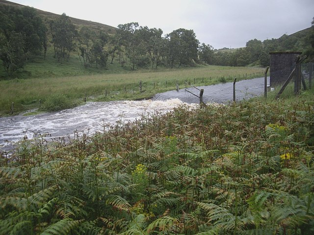 Weir and metering station on River Deveron