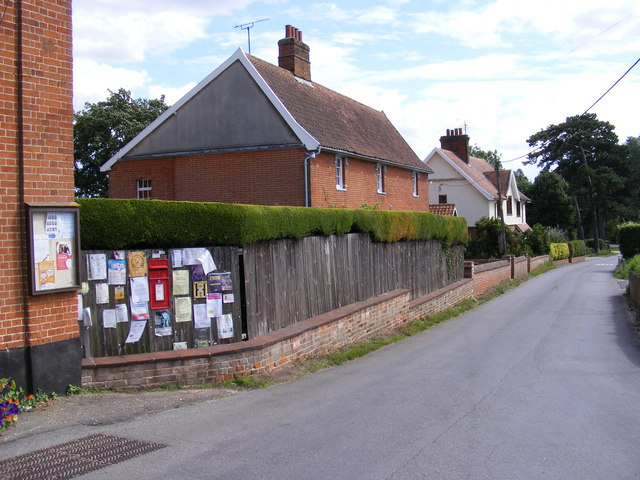 The Street, Little Bealings & Bealings Street Postbox