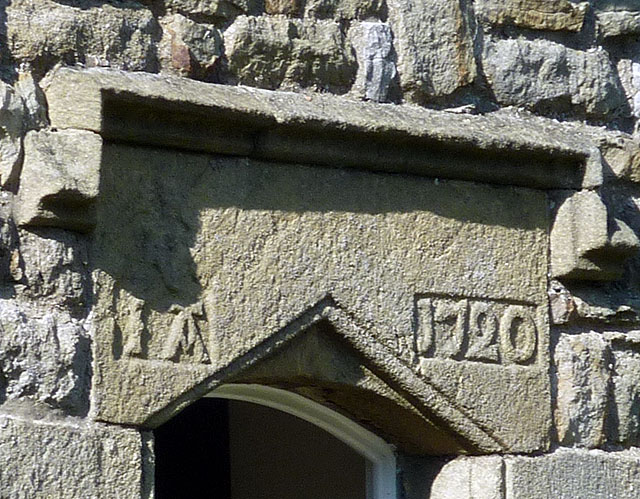 Date stone, Town Head Farmhouse, Newby