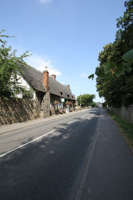 Road past the pub