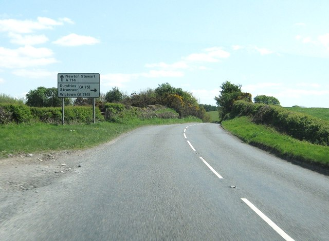 Approaching a turning to the A75