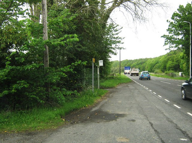 A bus stop at Palnure