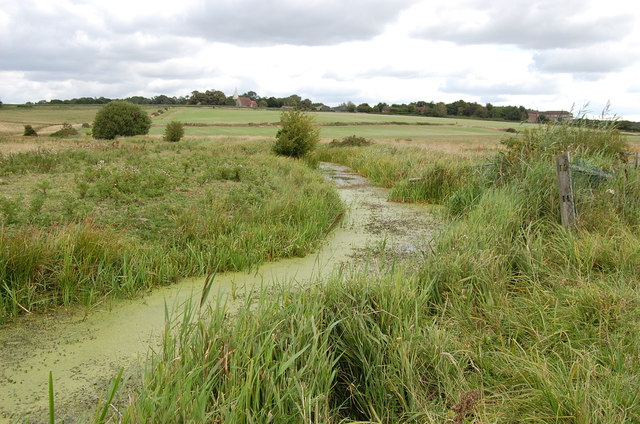 Drainage ditch near Herstmonceux
