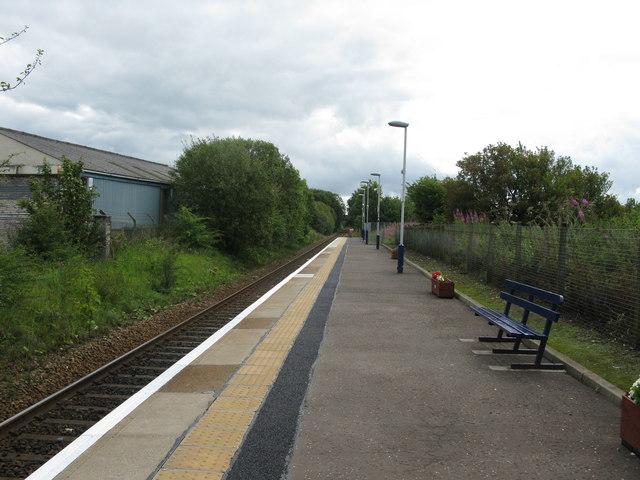 Kilmaurs railway station, looking South