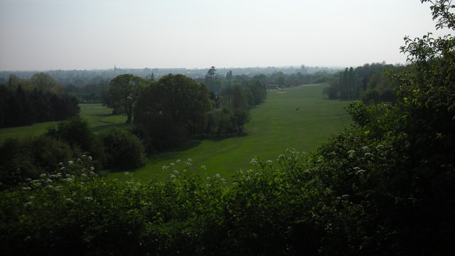 View over Newbold Comyn Golf Course