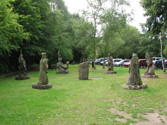 The Circle of Legends at the old Tintern station
