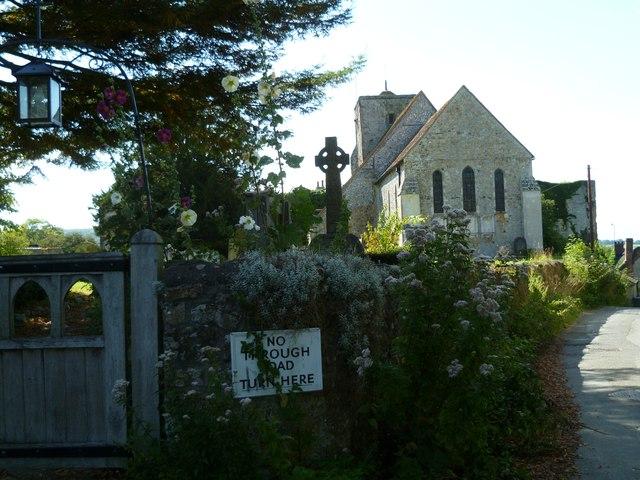 Church and gateway in Amberley