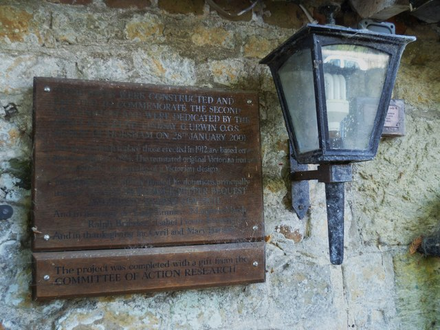 Notice by church gates at Amberley