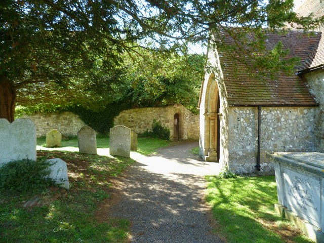 Amberley church porch