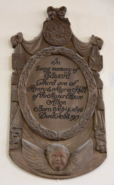 St Lawrence, Alton - Wall monument