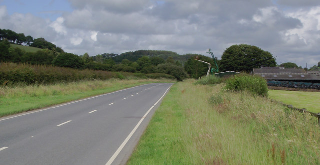 A485 north-east of Llangybi, Ceredigion