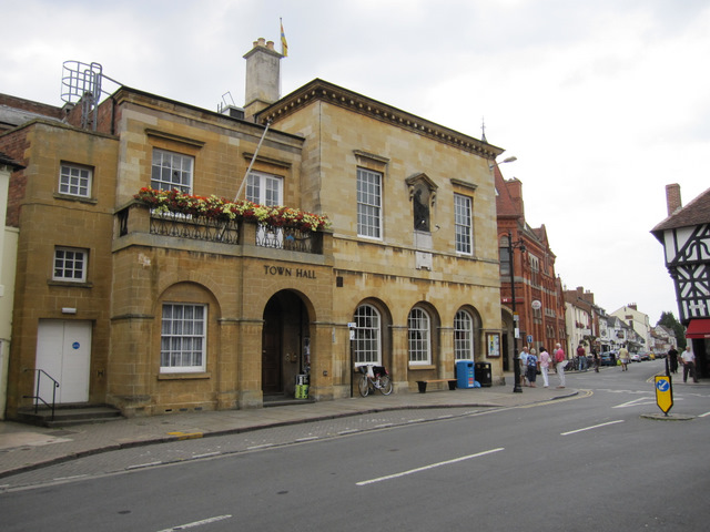 The town hall in Sheep Street