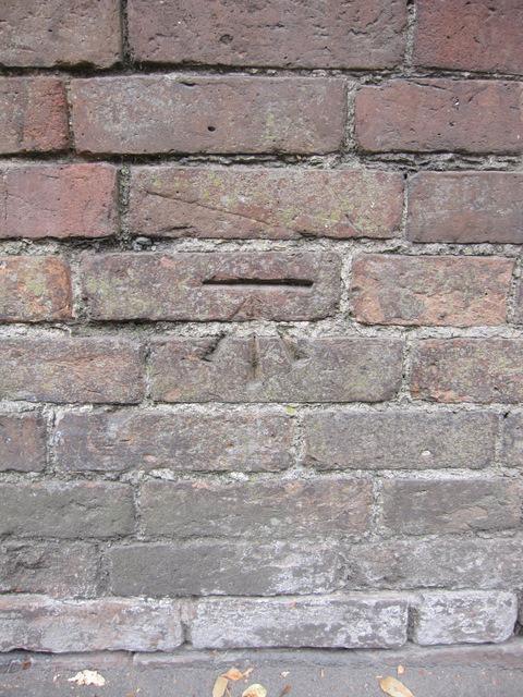 Bench mark alongside Rother Street