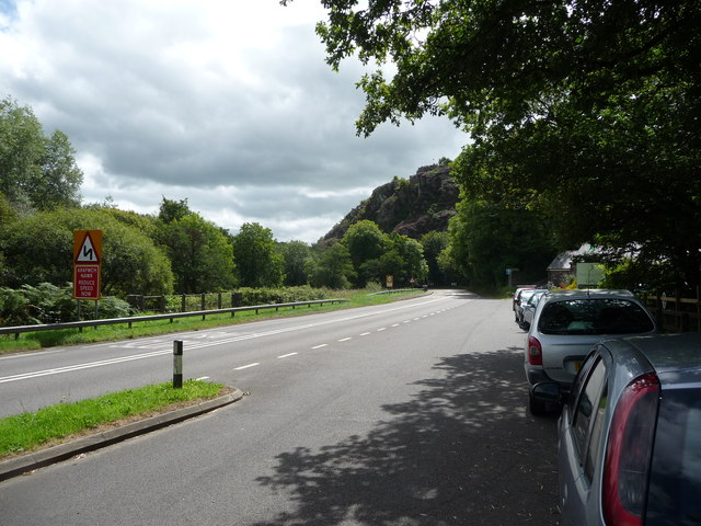 Part of the Nant-y-Coy lay by on the A40