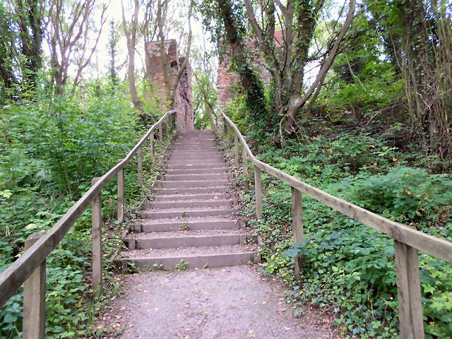 Steps at Grosmont Car Park