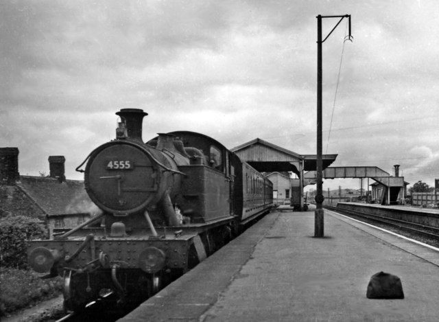Witham (Somerset) Station, with a train for Yatton