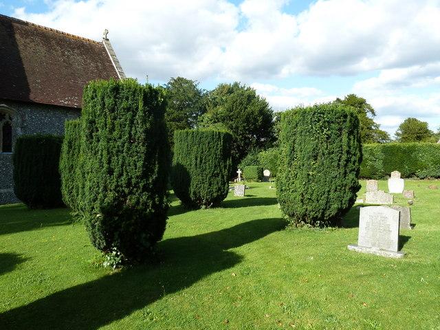 All Saints, East Stratton: churchyard (1)