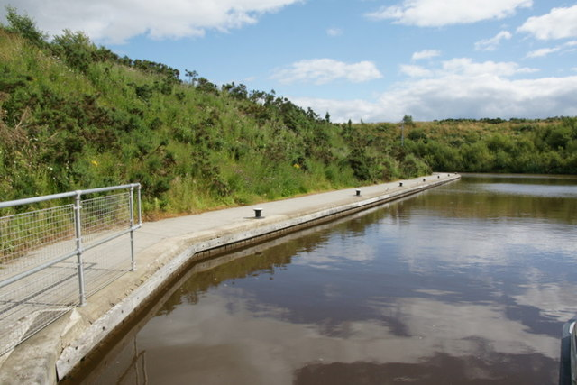 Basin on the Union Canal above the Falkirk Wheel
