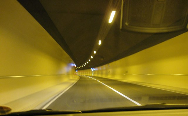 Travelling North through the new Hindhead Tunnel