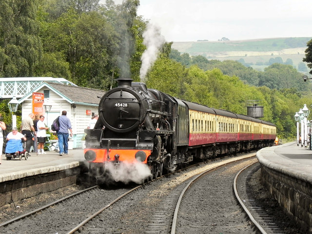 Eric Treacy at Grosmont Station
