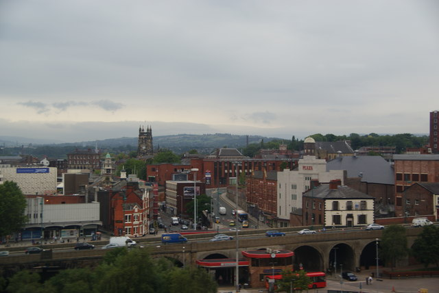 Stockport from the train