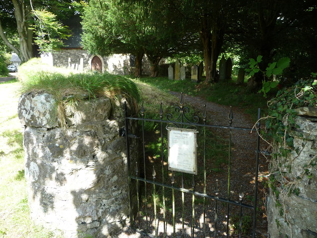 Gate into the churchyard, St. Michaels church, Treffgarne