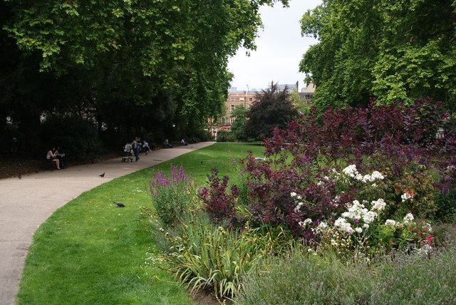 Flowerbed in Russell Square