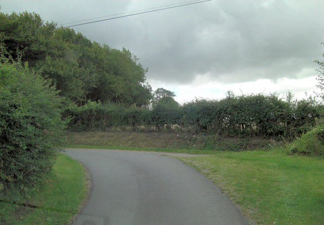 Junction of Rectory Lane and Hollowshoot Lane